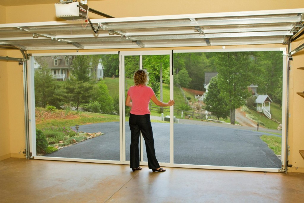 1 weekend garage organization the realistic mama for Motorized garage door screens