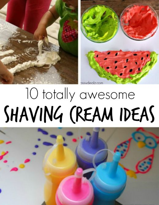10 totally awesome shaving cream art ideas