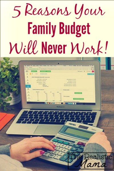 5 reasons your budget isn't working and what to do instead