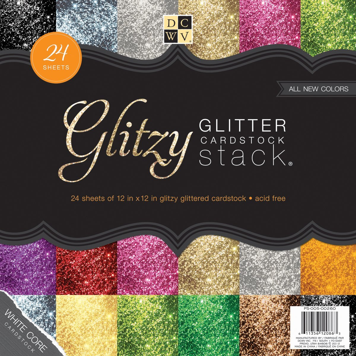Glitter Scrapbook Sheets
