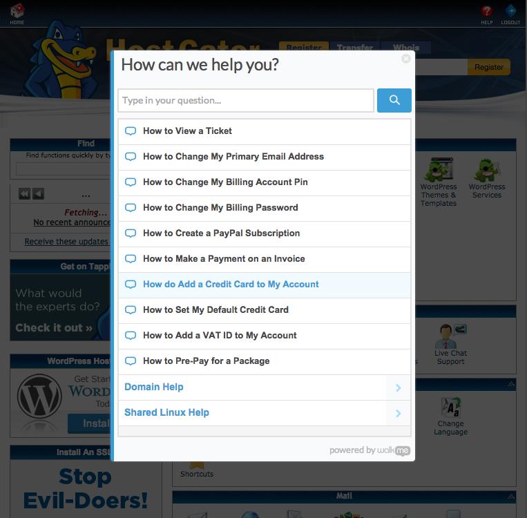 HostGator Help Page