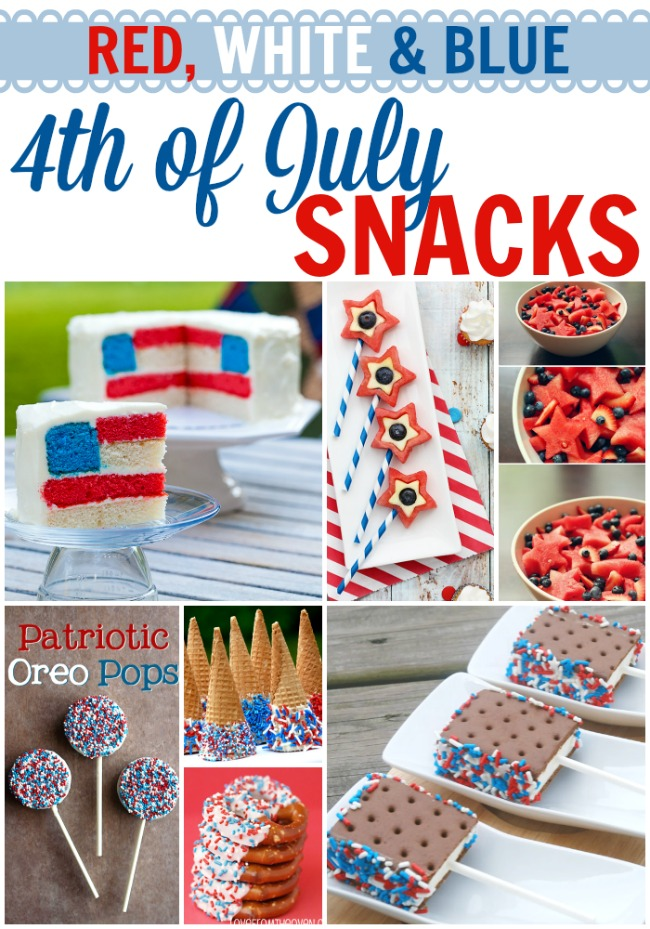 Must-Make Red,White & Blue 4th of July Snack Ideas