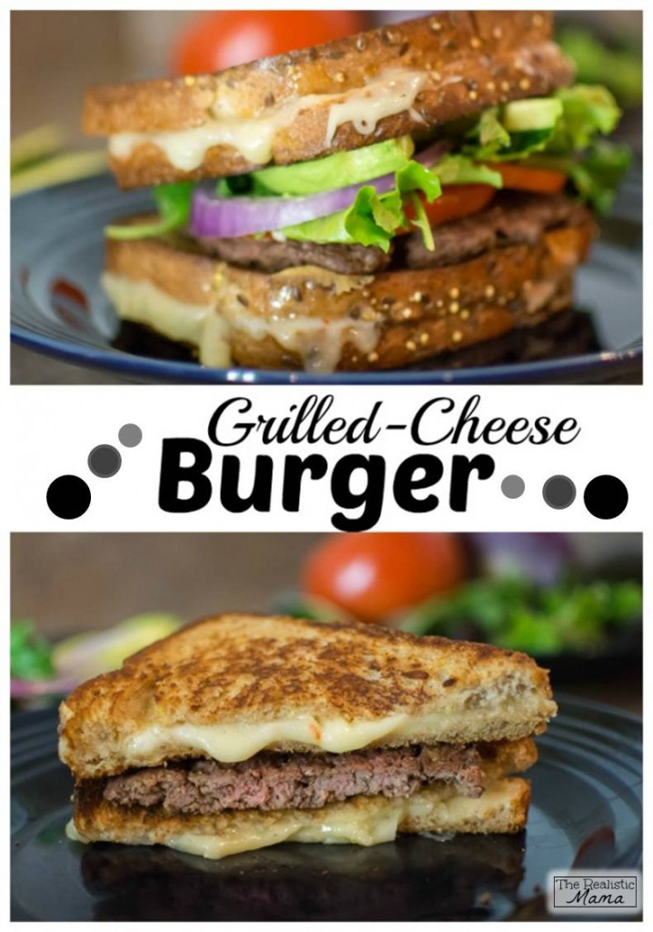 Grilled Cheese Burger Gooey