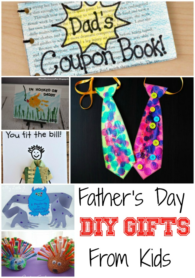 Fathers Day DIY Gifts From Kids