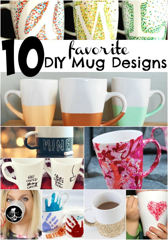 10 Adorably Cute DIY Mug Ideas