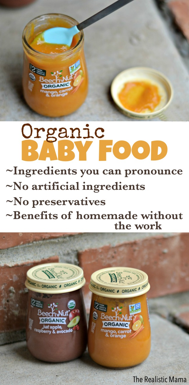 Our favorite organic baby food
