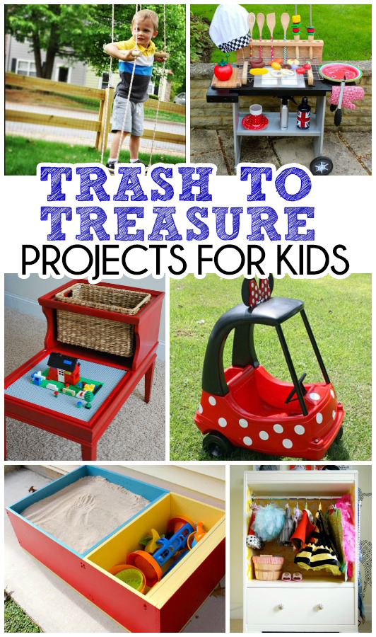 trash to treasure upcycled projects for kids the realistic mama. Black Bedroom Furniture Sets. Home Design Ideas