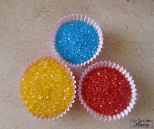 Fun sprinkles add some pop to these summer cupcakes for kids