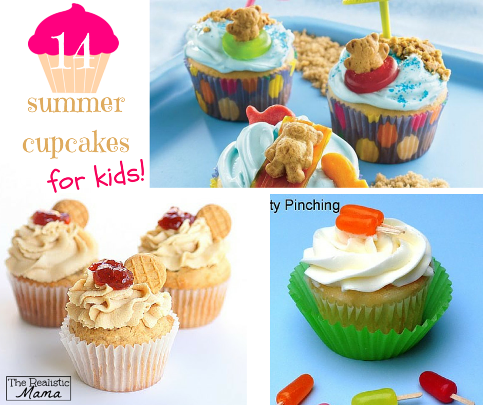 14 Sweet & Fun Kids Cupcakes for your summer get-togethers -- a variety of easy decorating ideas