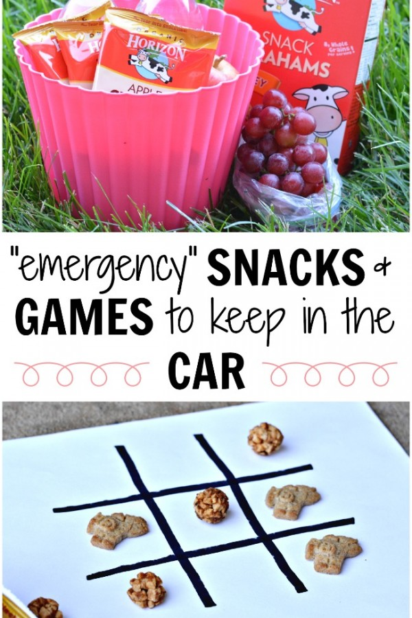 Great list of snacks and games you should keep in the car for the kids