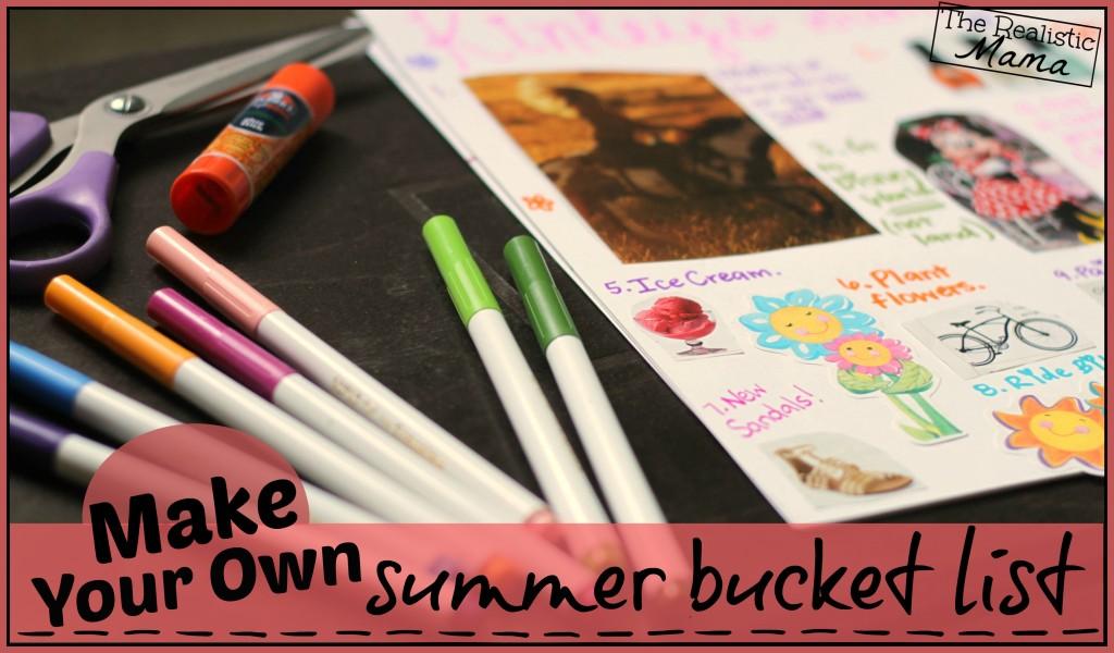 Make Your Own Summer Bucket List