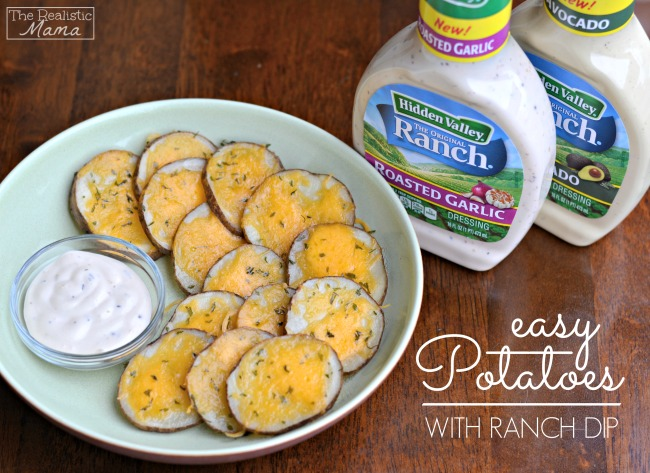 Easy Potatoes with Ranch Dip