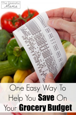One Easy Way To Help You Save On Your Grocery Budget