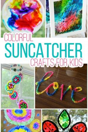 15 Colorful Suncatcher Crafts For Kids