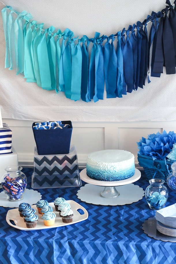 Blue Ombre Party Theme