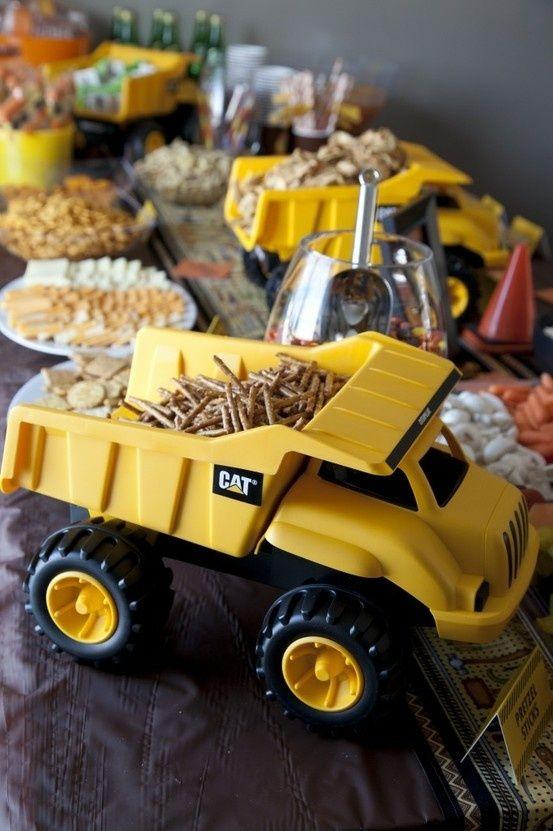 Dump Truck Food Presentation