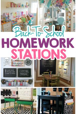 15 Creative Back-To-School Homework Station Ideas