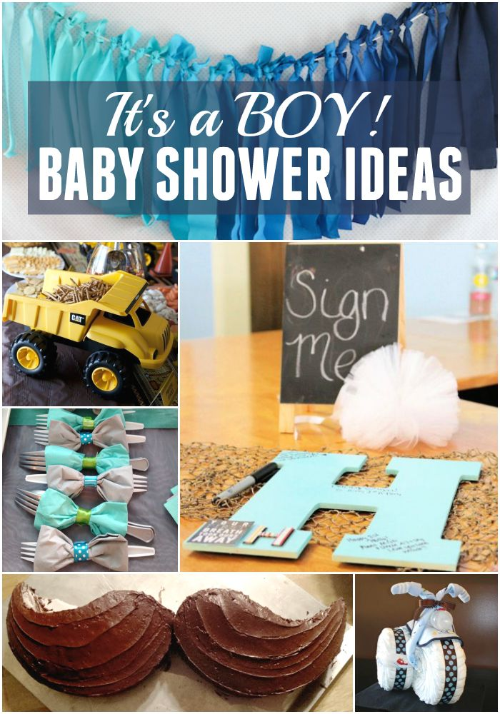 Itu0027s A Boy! Best Baby Shower Ideas!
