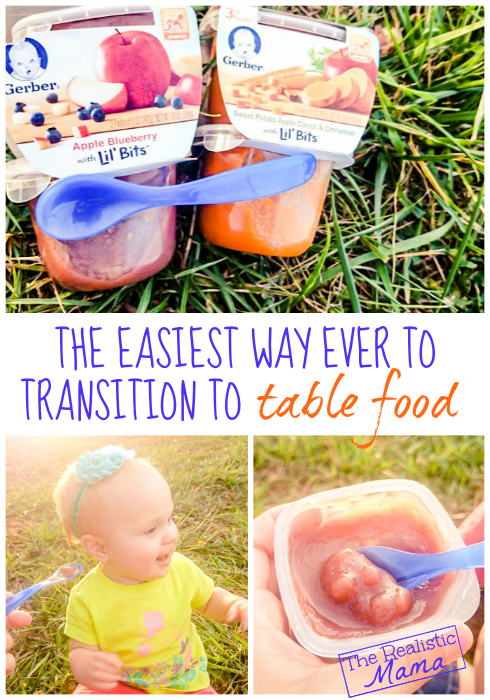 easiest way ever to transition to table food
