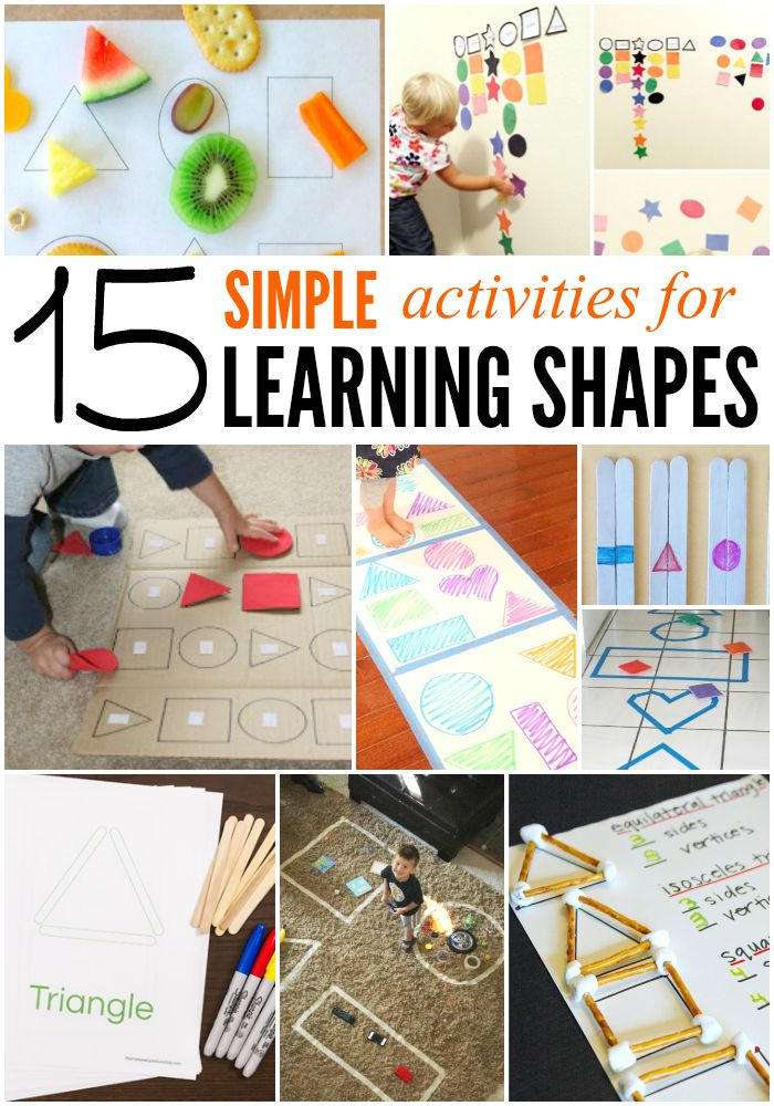 15 Simple Activities for Learning Shapes.