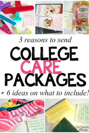 3 reasons to send a college care packages + ideas on what to include!