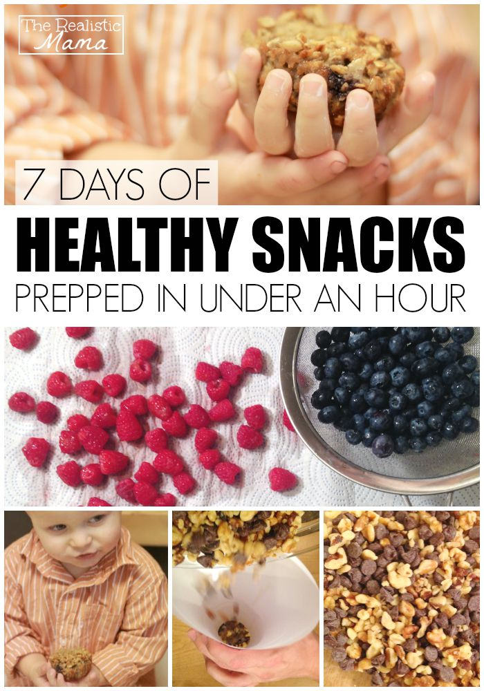 7 days of healthy snacks prepped in under an hour