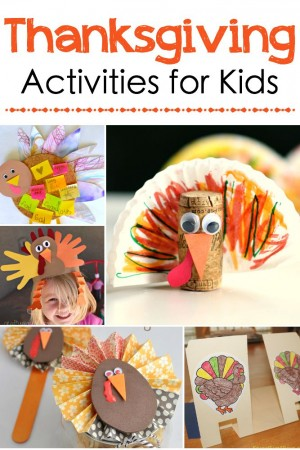 Adorable Thanksgiving Activities for Kids