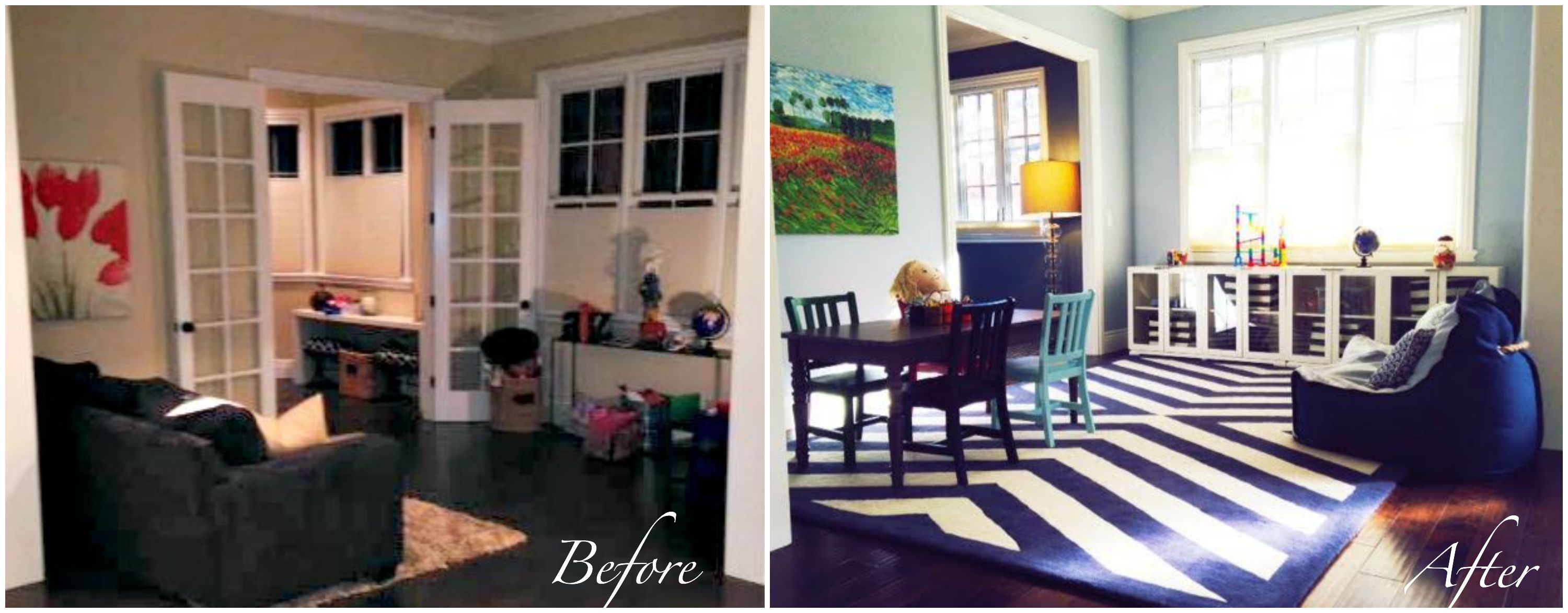 Before & After Playroom