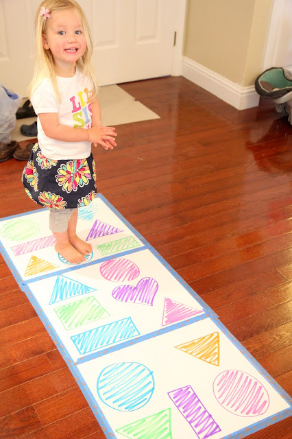 Learning Shapes Hopping Game