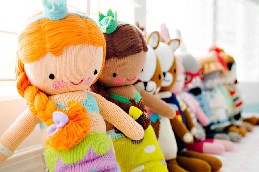 cuddle+kind hand-knit dolls
