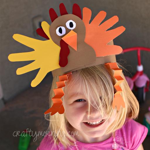 handprint-turkey-hat-thanksgiving-craft-for-kids
