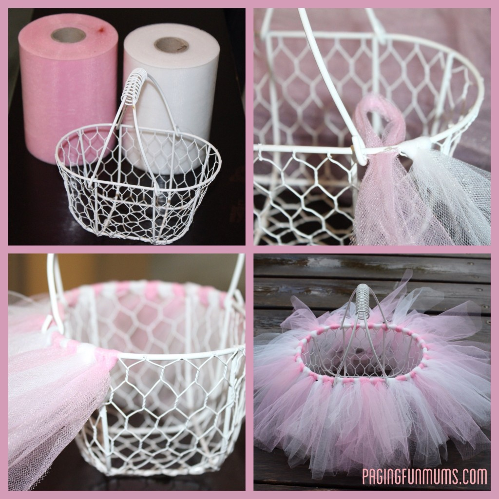 tutu easter basket