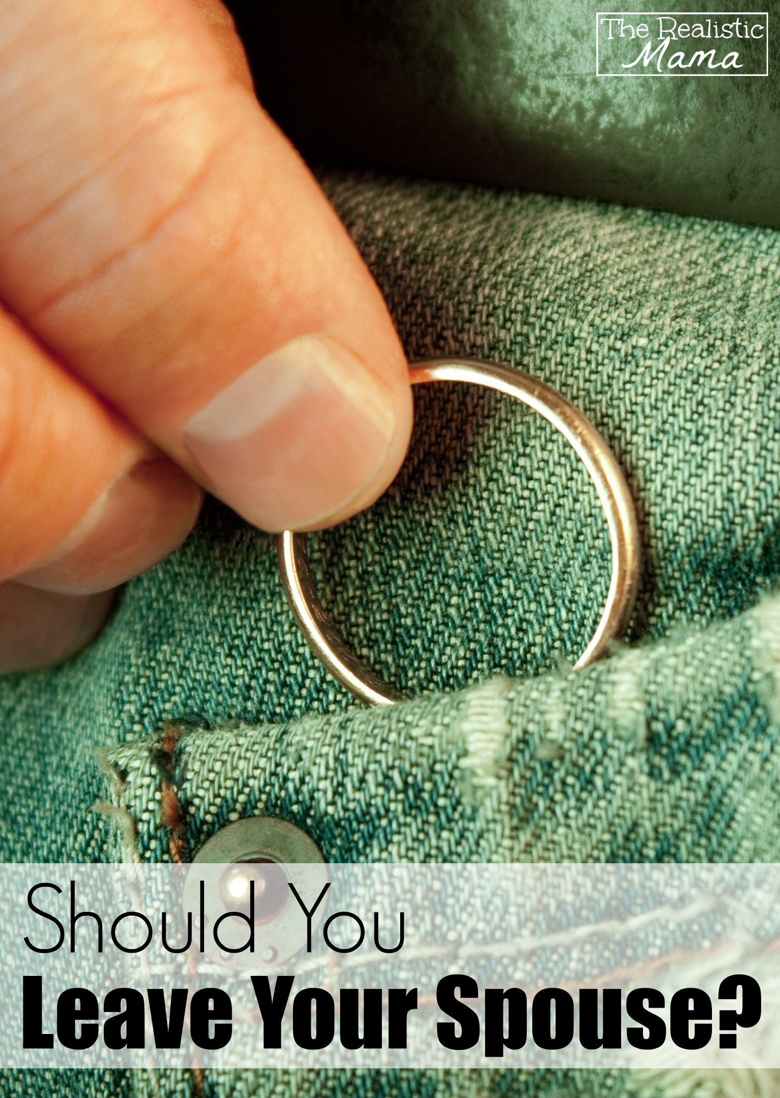 Should You Leave Your Spouse An answer that will really get you thinking.
