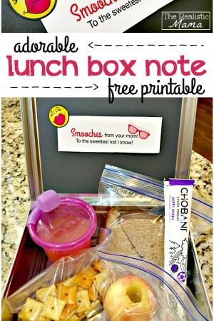 Adorable Free Lunch Box Note