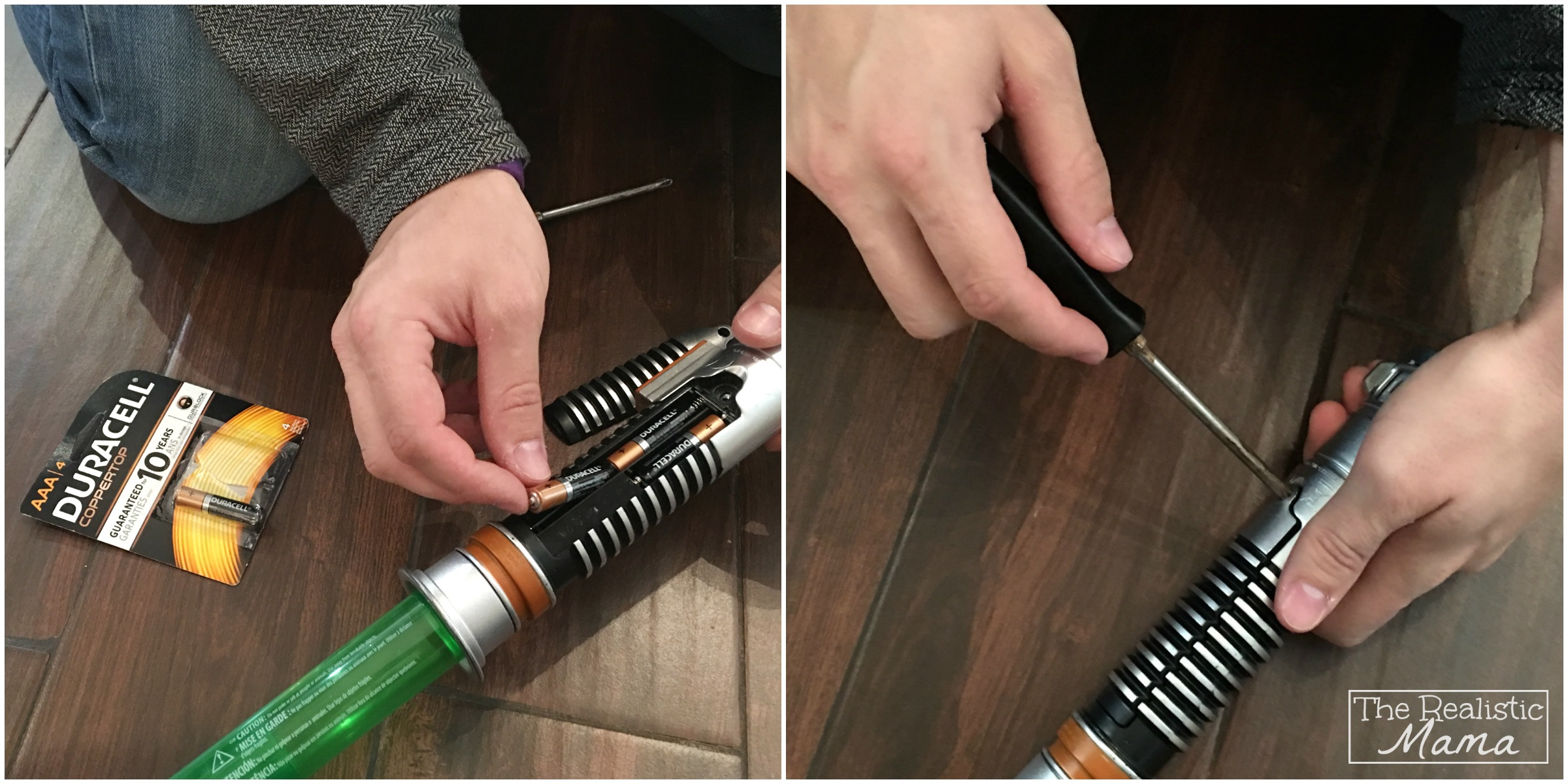 Installing Duracell Batteries in Toy