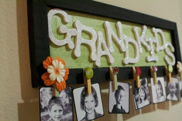8 diy gifts for grandparents the realistic mama this adorable frame lets grandparents swap out photos throughout the year its like a fancy brag book for your wall check out your local craft store solutioingenieria Image collections