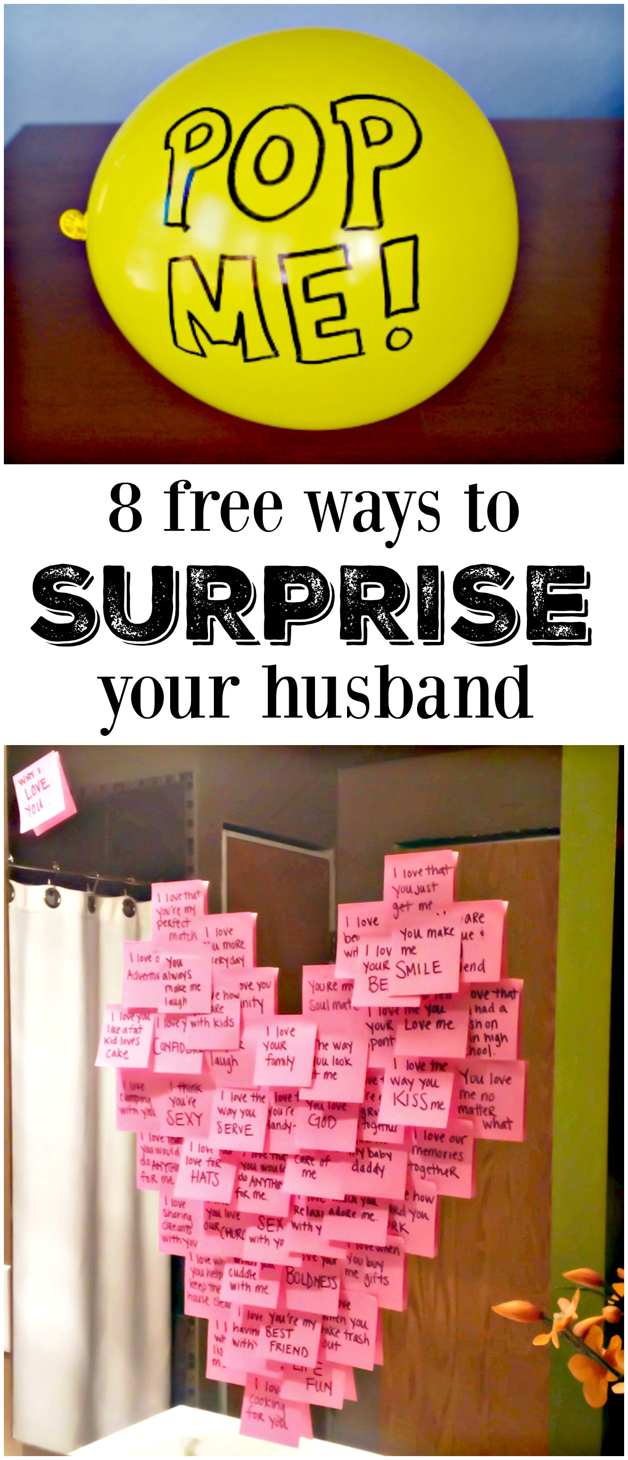8 Free Ways To Surprise Your Husband And Totally Make His Day