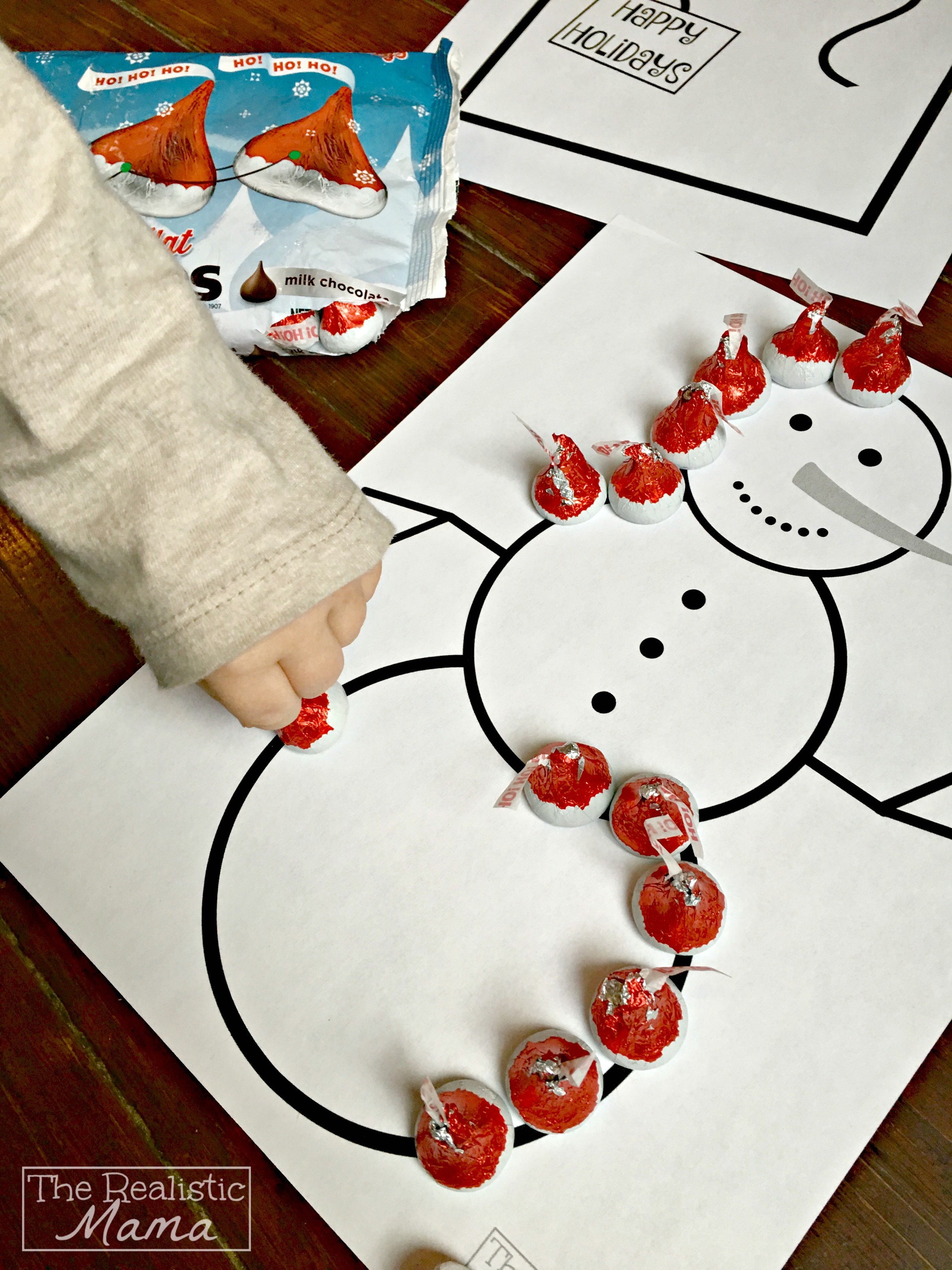 Holiday Printable Chocolate Craft