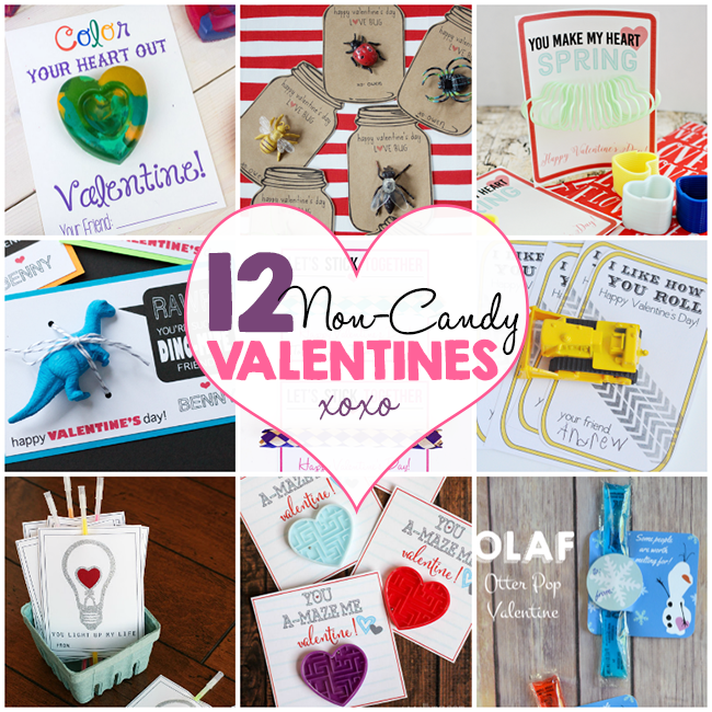 12 Non-Candy Printable Valentines