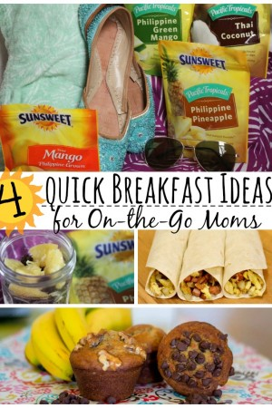 "4 Quick Breakfast Ideas for ""On-the-Go"" Moms"