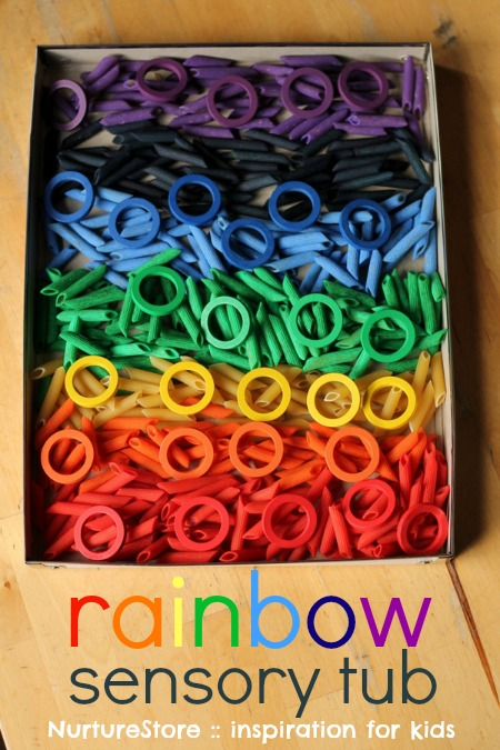 rainbow-sensory-tub-toddlers-preschool