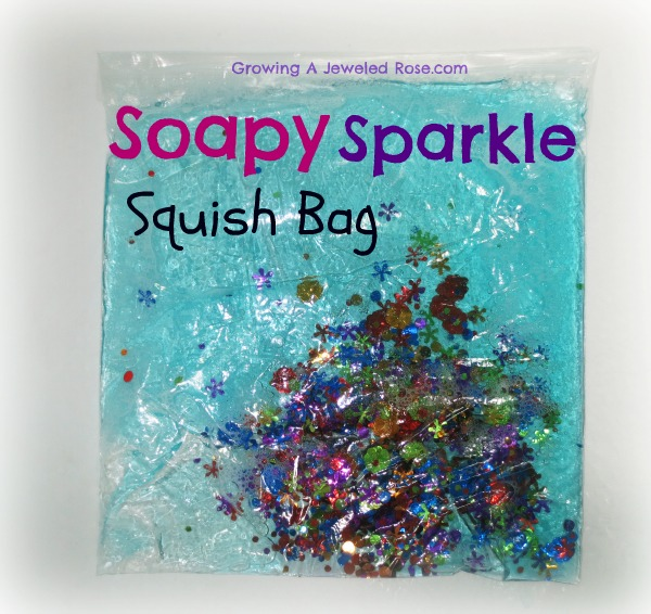 soapy sparkle squish bag