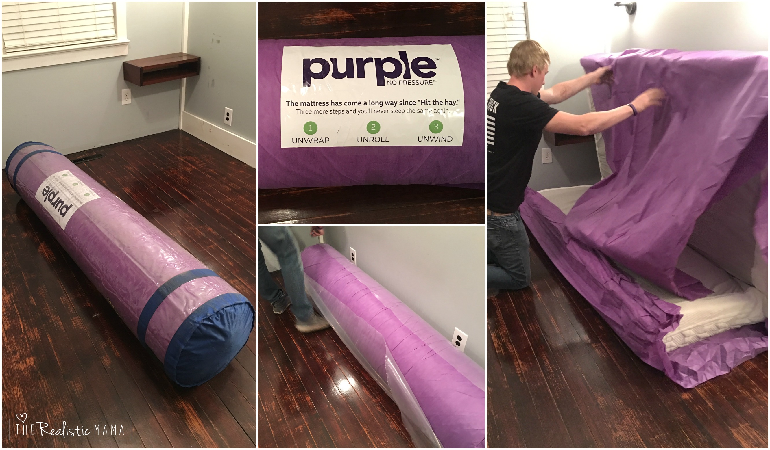 our new purple mattress - the realistic mama
