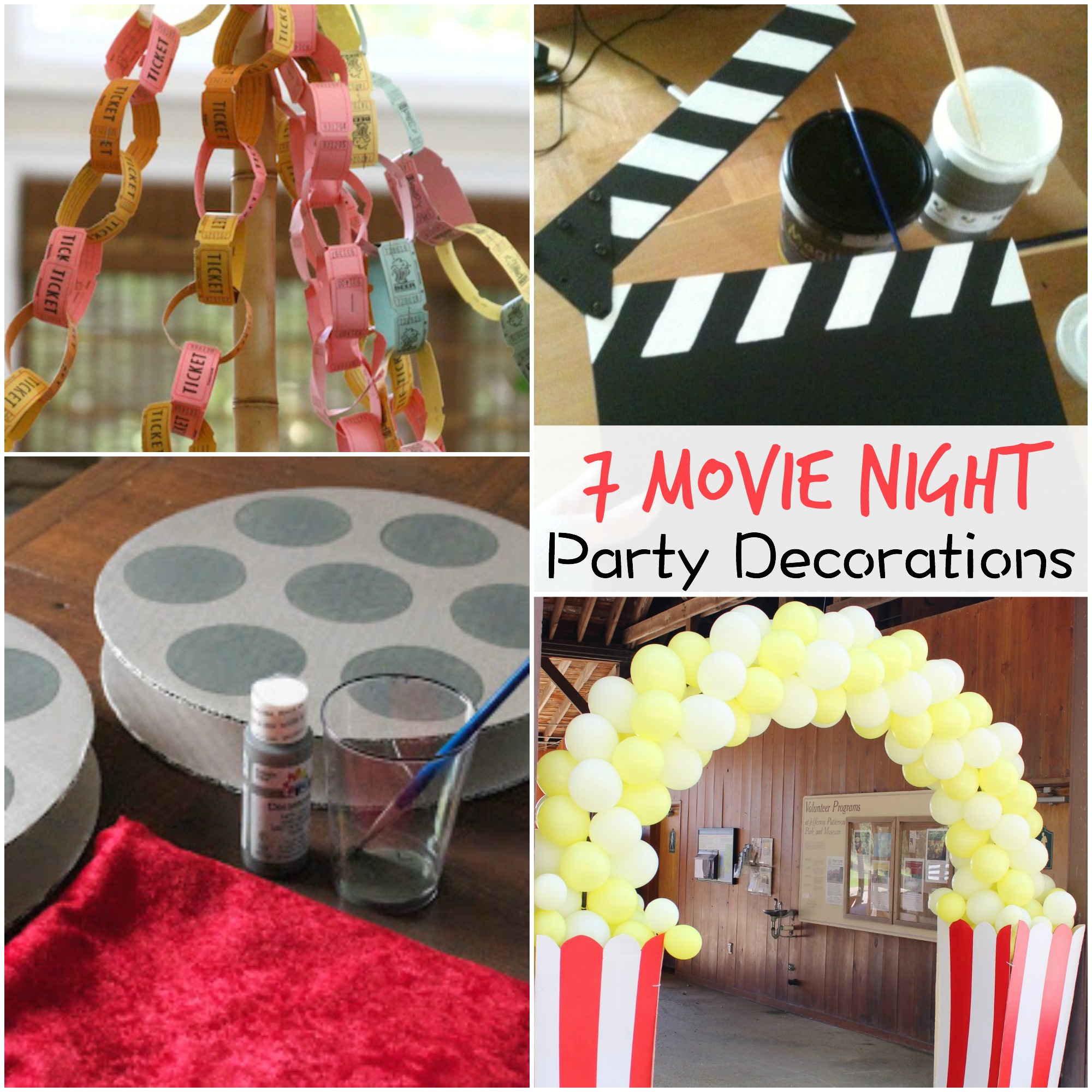 7 Movie Night Party Decorations