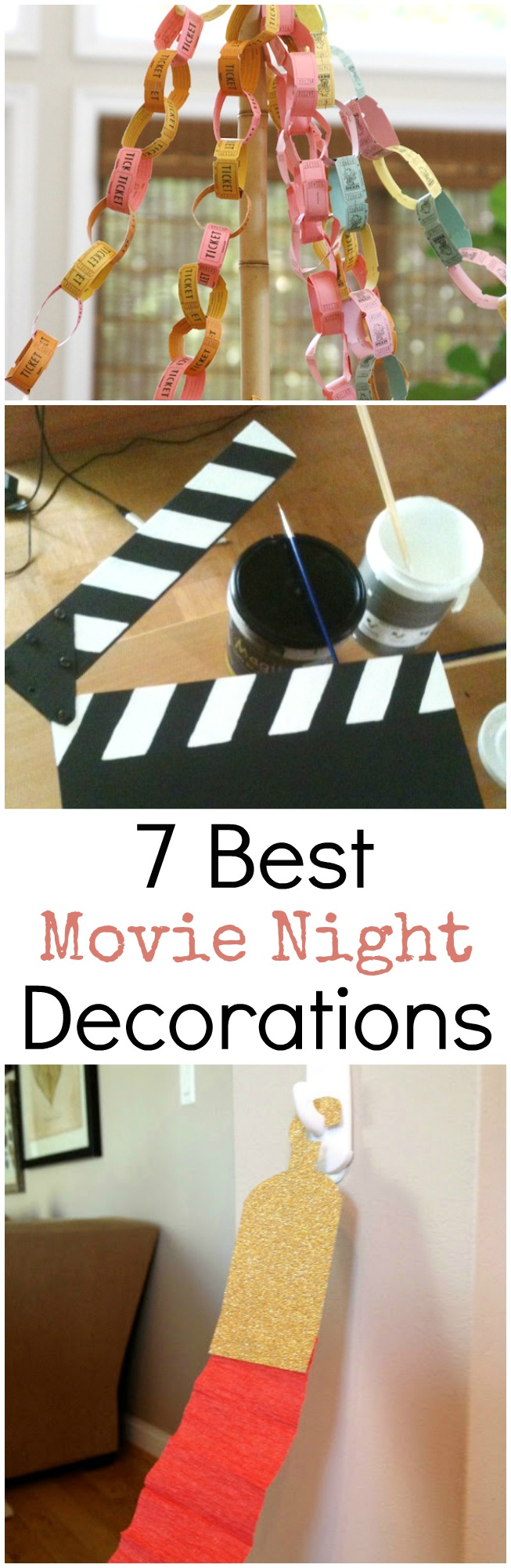 7 Totally Awesome Movie Night Decorations to WOW Your Guests! Great for any Party, Movie Night or Birthday!