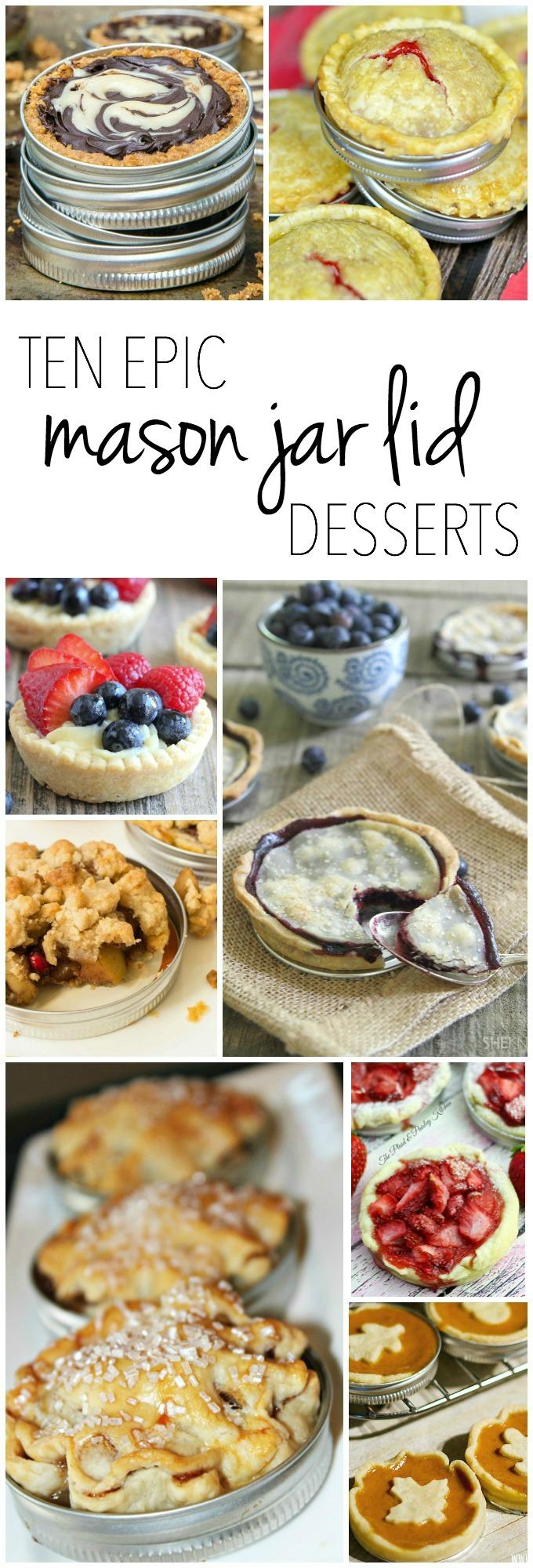 Desserts Baked in... MASON JAR LIDS