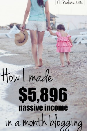 How I made $5896 passive income last month blogging