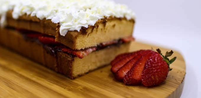 Strawberry Chocolate Hazelnut Pound Cake