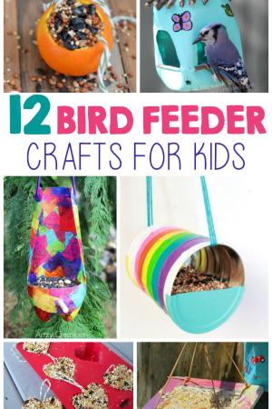 12 Kid-Made Bird Feeder Crafts