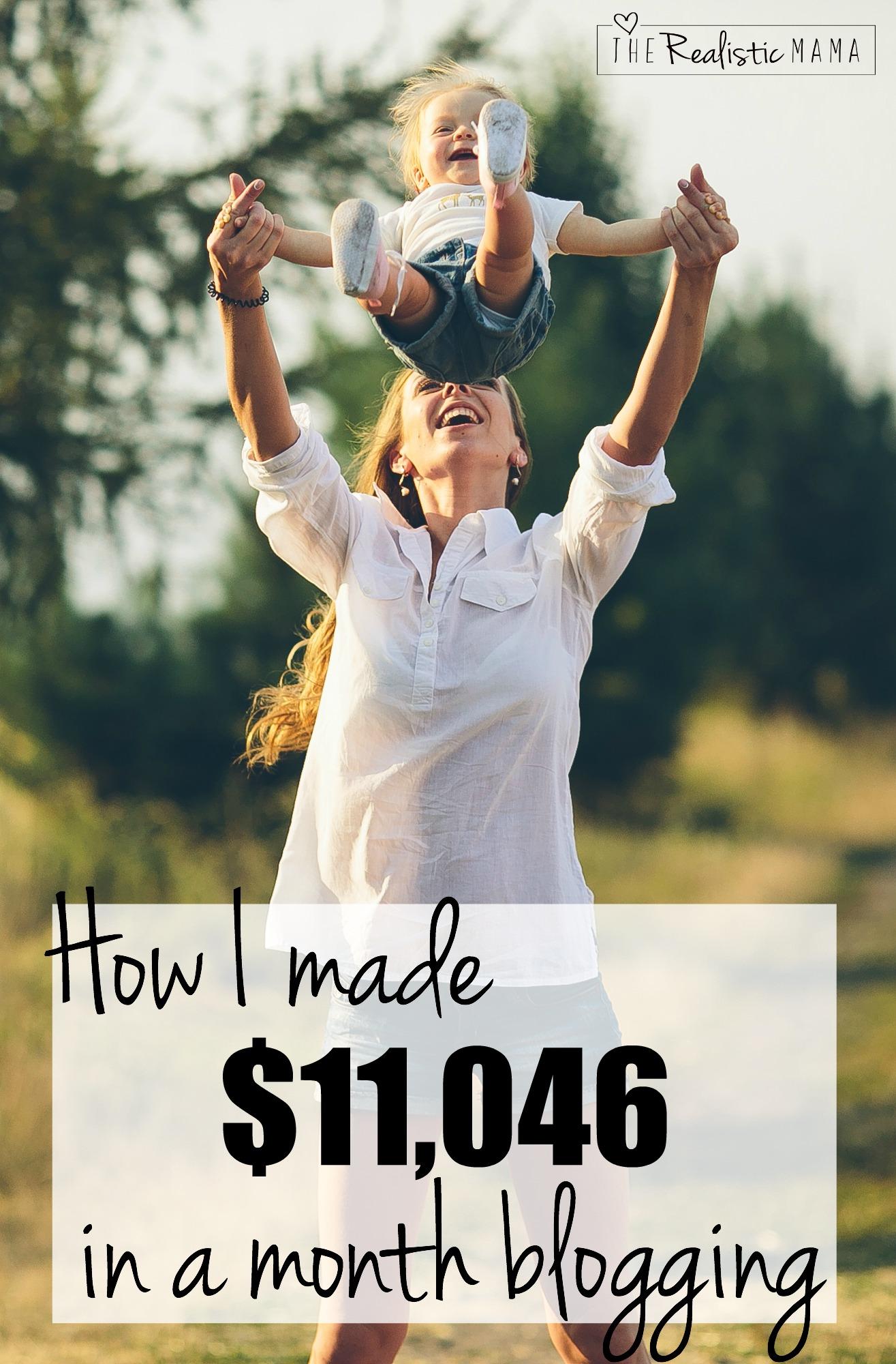 How I made $11,046 blogging last month